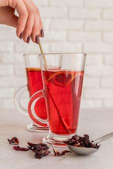 Healthy tea with herbs