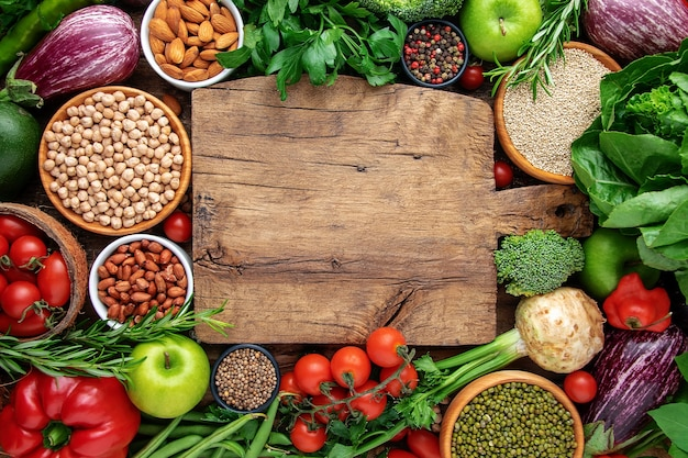 Healthy vegan food concept