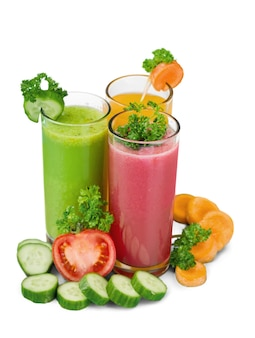 背景に健康的な野菜ジュース