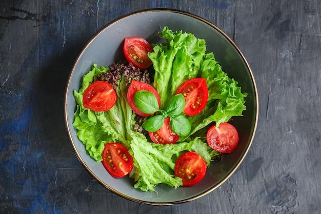 Healthy vegetable salad leaves lettuce