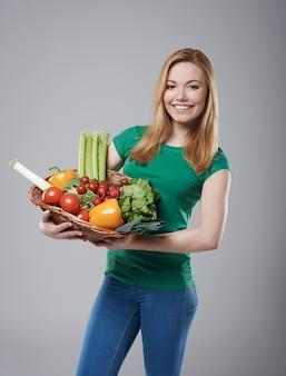 健康的な野菜は私の食事の基本です