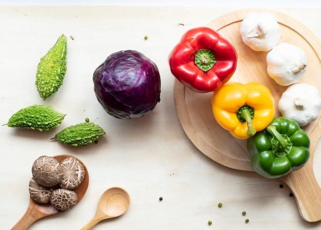 木製の健康野菜