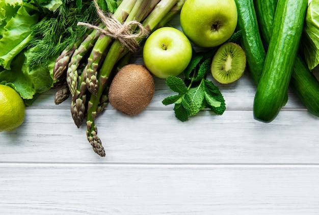 Здоровые овощи вид сверху