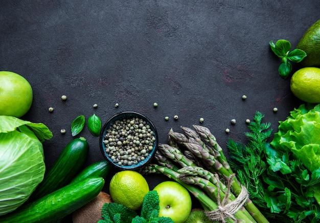 健康的なベジタリアン料理のコンセプトの背景