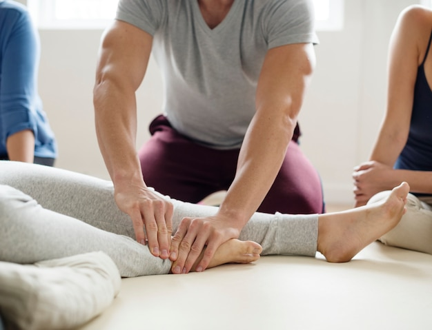 Healthy wellbeing massage training class