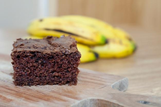 Здоровый цельный банановый пирог Premium Фотографии