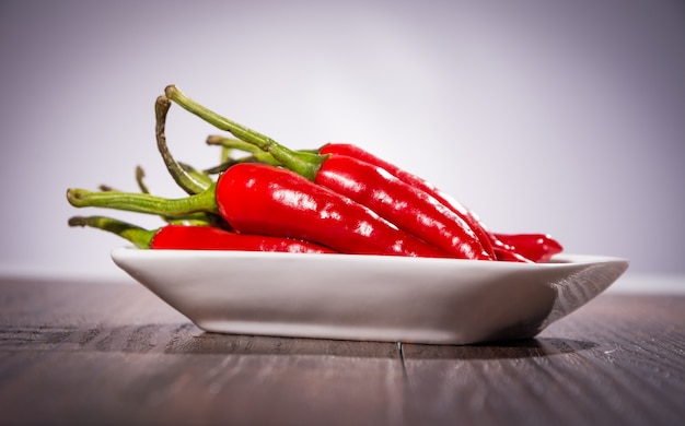 A heap of chili peppers