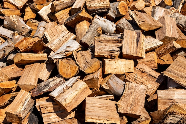 Heap of chopped wood