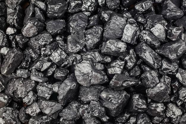 Mucchio di carbone come sfondo, vista dall'alto