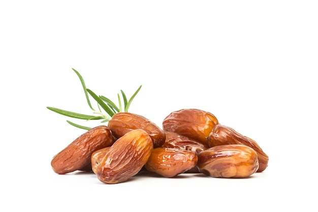 A heap of dates isolated on a white background