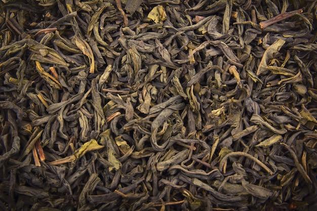 Heap of dry green tea (texture)