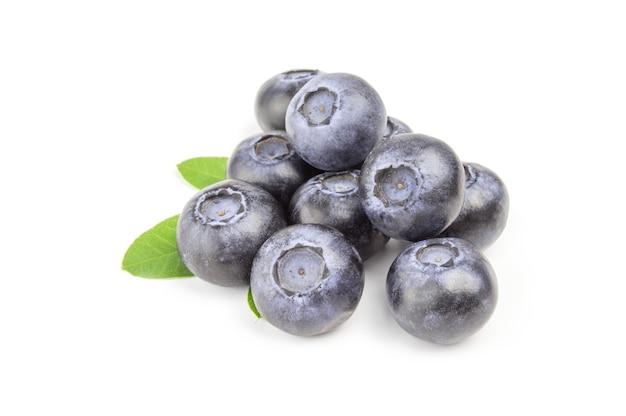 Heap of fresh blueberrys isolated