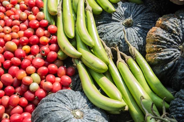 Heap of fresh vegetables