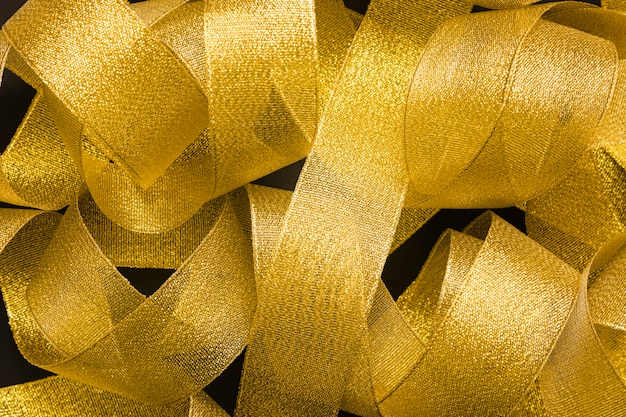 Heap of golden ribbon