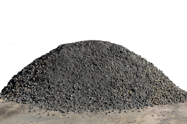 Heap of gravel isolated.