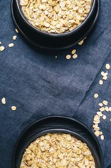Heap of oats inside bowl