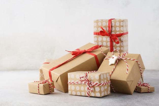 크리스마스 또는 발렌타인 데이 손수 선물 상자 힙