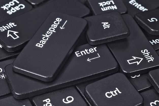 キーボードボタンのヒープがクローズアップ
