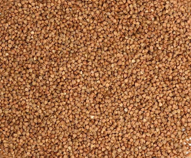 생 쌀된 메밀 곡물, 상위 뷰 힙. 질감, 가까이