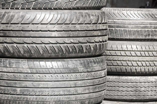 Heap of old tires