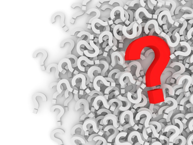 Heap of question marks background