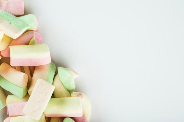 Mucchio di gustosi marshmallow