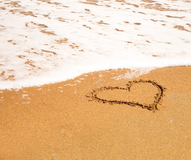 Heart on the beach.