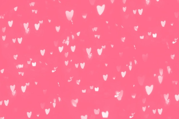 Heart bokeh pink background, love valentine day concept