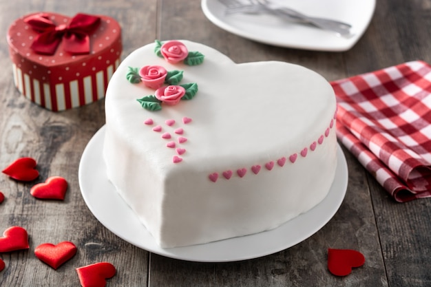 Heart cake for st. valentine's day