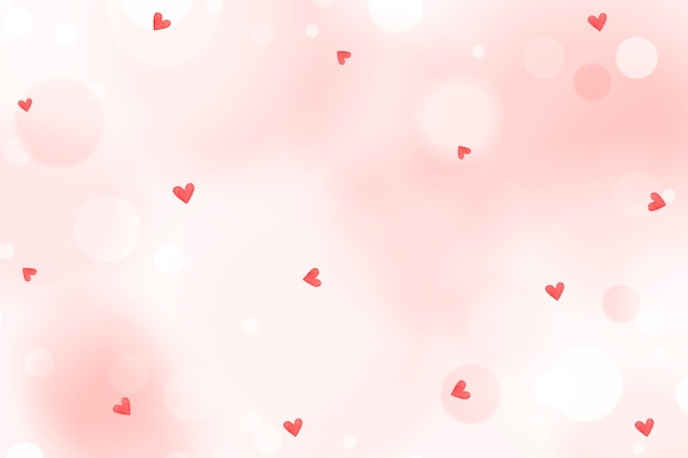 Heart confetti pattern on a crepe pink background