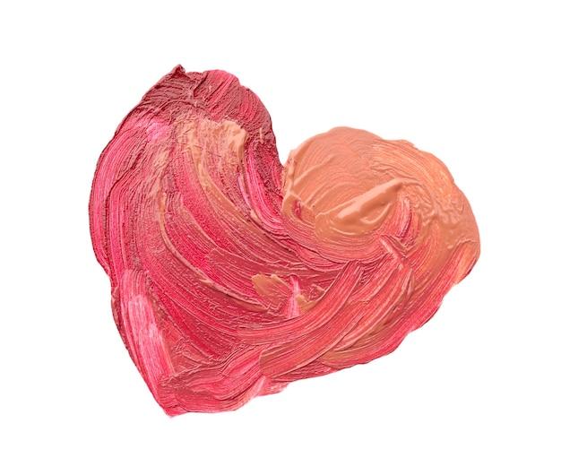 Сердце обращается с цветной помадой