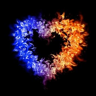 심장 불꽃 요소, 독창적 인 디자인