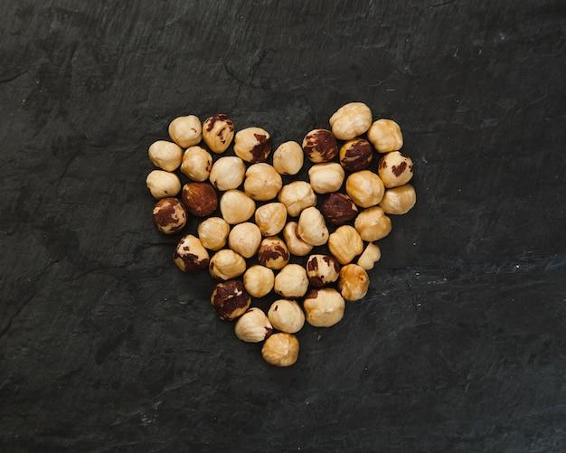 Heart from hazelnuts