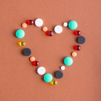 Heart from various pills