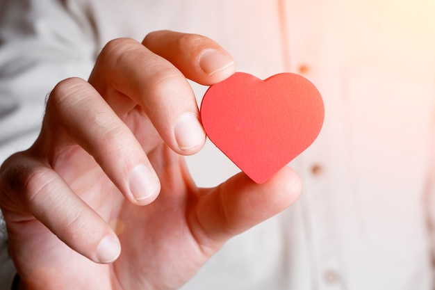 Heart in hand donate love health and medicine concept high quality photo