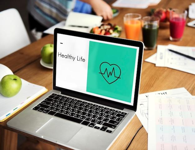 Icona di benessere di vita sana del cuore