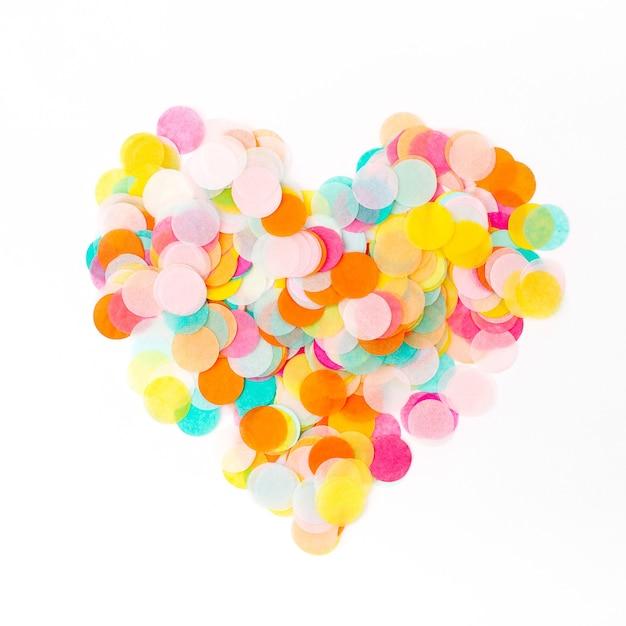 다채로운 종이 색종이의 심장, 휴일 개념