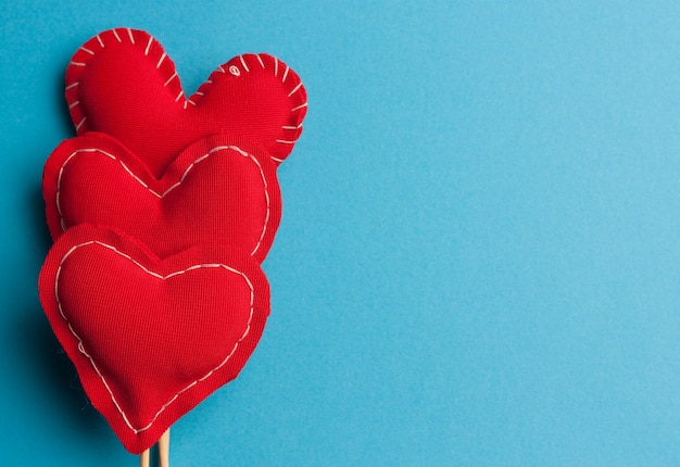 Сердце на палочке подарок любовь праздник день святого валентина синий