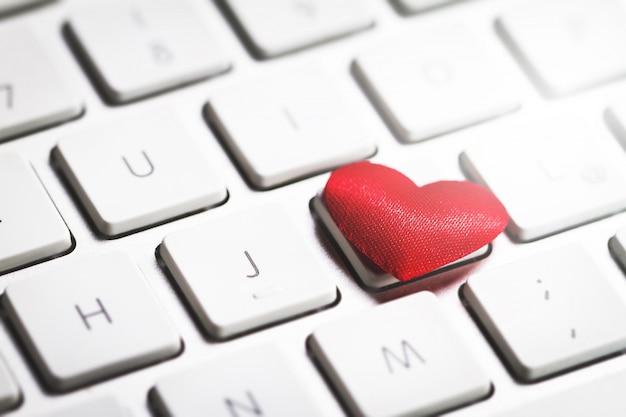 コンピュータのキーボードのハート