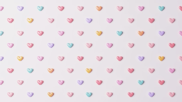 Heart pastel color pattern background