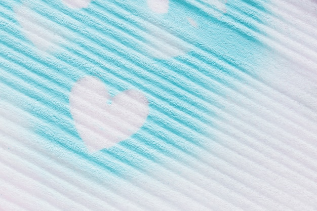 Heart pattern around blue color