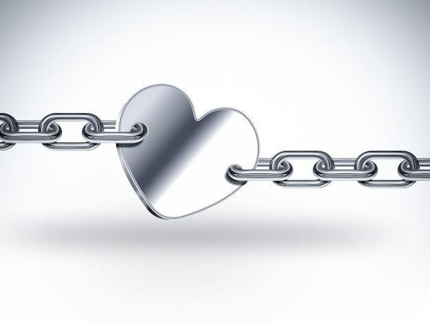 Heart shape on chain