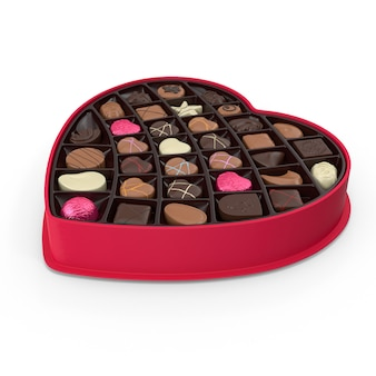 Heart shape chocolate box for valentines day