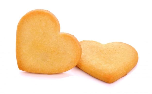 Печенье в форме сердца на белом