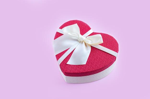 Heart shape gift box with ribbon bow