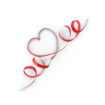 Heart shape ribbon for valentines day