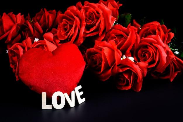 Heart shape, wooden letters word