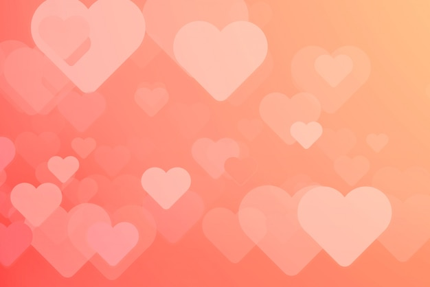 Heart-shaped background