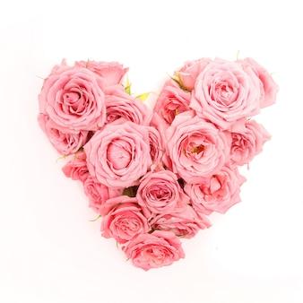 Букет из роз в форме сердца