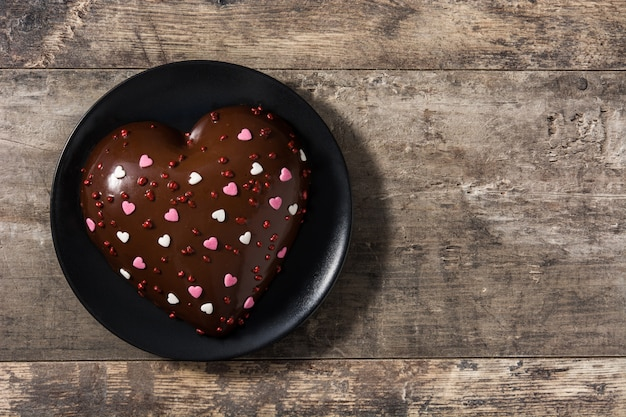 Heart shaped cake for valentine's day or mother's day